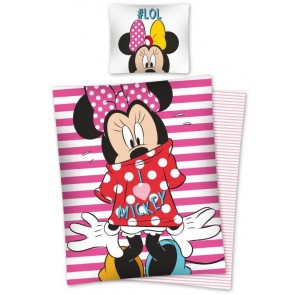 Kinderdekbedovertrek Minnie Mouse # LOL