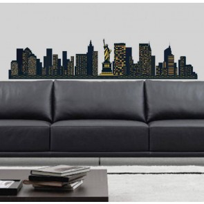 Muurstickers Vinyl New York Skyline 130 cm