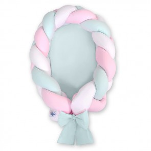 My Sweet Baby Babynestje 2-in-1 Mint-Wit-Roze