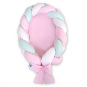 My Sweet Baby Babynestje 2-in-1 Roze-Wit-Mint