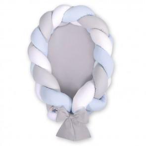 My Sweet Baby Babynestje 2-in-1 Grijs-Wit-Blauw