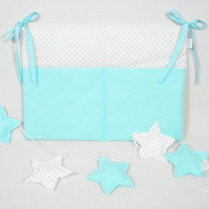Opbergzak Stars Dots Turquoise Betulli