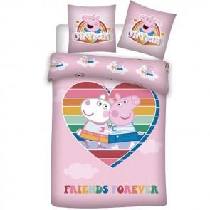 Peppa Pig Dekbedovertrek Friends Forever