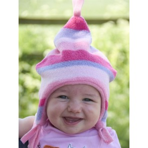 Buggy Snuggle Kindermuts Pink Stripe S