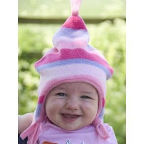 Buggy Snuggle Kindermuts Pink Stripe M