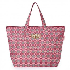 PiP Studio Strandtas Double Check Pink