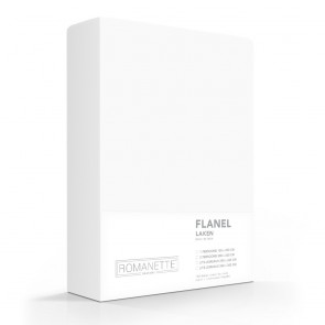 Flanellen Lakens Romanette Wit