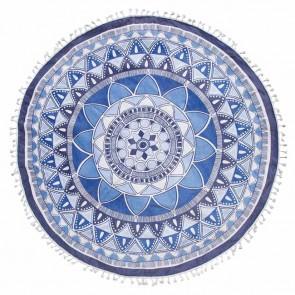 Seahorse Roundie Mandala Blue ⌀ 150