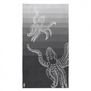 Seahorse Strandlaken Octopus Grey