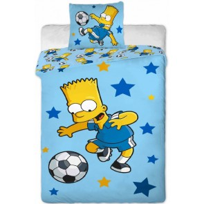 Bart Simpson dekbedovertrek Football Star