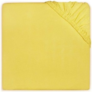 Jollein Hoeslaken Jersey Geel 60x120cm