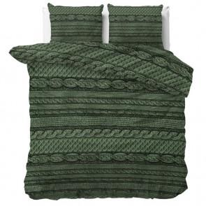 Sleeptime Dekbedovertrek Nature Knits Green
