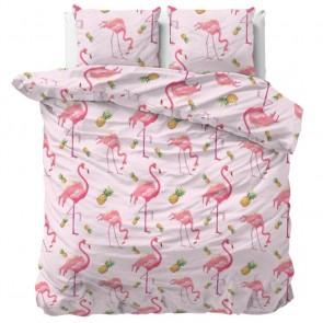 Sleeptime Dekbedovertrek Tropical Flamingo Pink