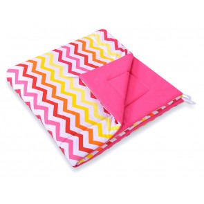 Speelkleed Tipi Tent Chevron Pink-Yellow