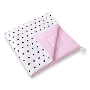Speelkleed Tipi Tent Stars Black-Pink