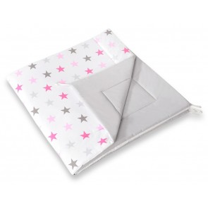 Speelkleed Tipi Tent Stars Grey-Pink