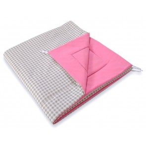 Speelkleed Tipi Tent Checkered Grey-Pink