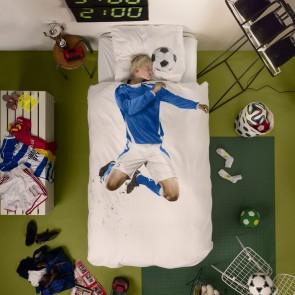 Snurk Beddengoed Soccer Champ Blauw-140x200/220