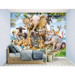 Jungle Safari Fotobehang (Walltastic)