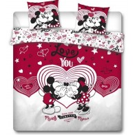 Minnie en Mickey Mouse Dekbedovertrek Love You -240 x 220 cm