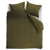 Ambiante Dekbedovertrek Uni Cotton Olive Green