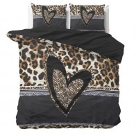 Dreamhouse Dekbedovertrek Panther Love Heart Brown