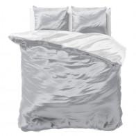 Sleeptime Dekbedovertrek Beauty Double Face Grey/White