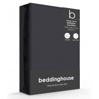 Beddinghouse Splittopper Hoeslaken Jersey-Lycra Anthracite