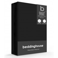 Beddinghouse Splittopper Hoeslaken Jersey-Lycra Black