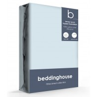 Beddinghouse Jersey-Lycra Topper Hoeslaken LightBlue