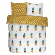 Covers & Co Dekbedovertrek Pineapple