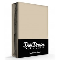 Flanellen Hoeslaken Taupe Day Dream