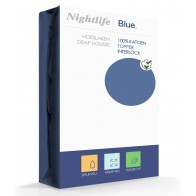 Nightlife Double Jersey Topper hoeslaken Blue