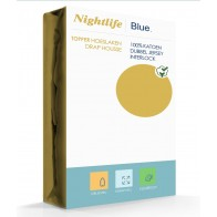Nightlife Double Jersey Topper hoeslaken Yellow