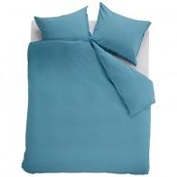Beddinghouse Dekbedovertrek Organic Basic Blauw - Grijs