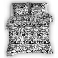 Satin d'Or dekbedovertrek Zebra Zwart Wit