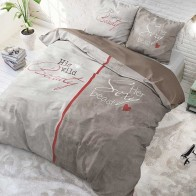 Sleeptime dekbedovertrek Beauty & The Beast Taupe