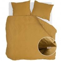 Walra Dekbedovertrek Vintage Cotton Honey Mustard