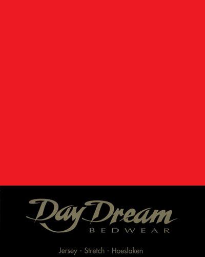 Jersey Hoeslaken Rood 90 x 200 cm