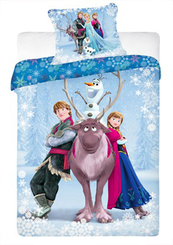 dekbed frozen anna elsa olaf en sven de eland disney aanbieding kopen. Black Bedroom Furniture Sets. Home Design Ideas