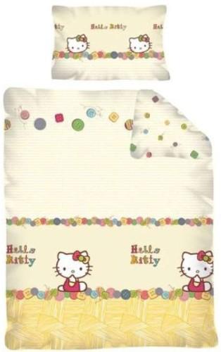 Ledikant Dekbed Hello Kitty ruit 100x135cm