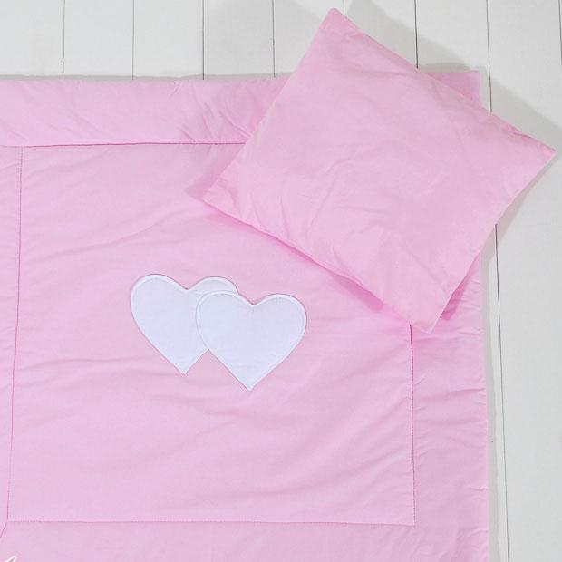 Dekbed Kinderwagen 2-delig Two Hearts Roze