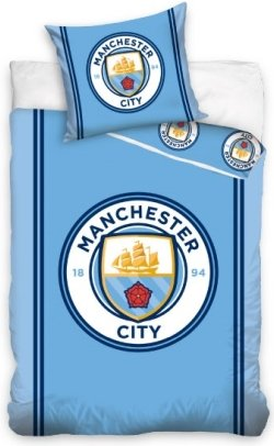 Manchester City Dekbedovertrek Blauw
