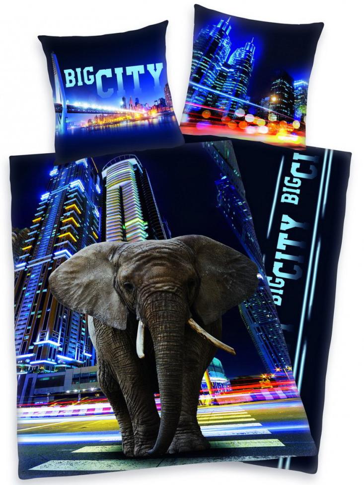 Dekbedovertrek Big City Olifant
