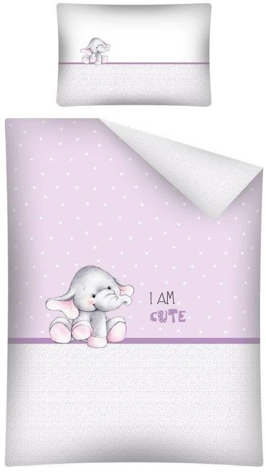 Dekbedovertrek Olifantje I am Cute Pink