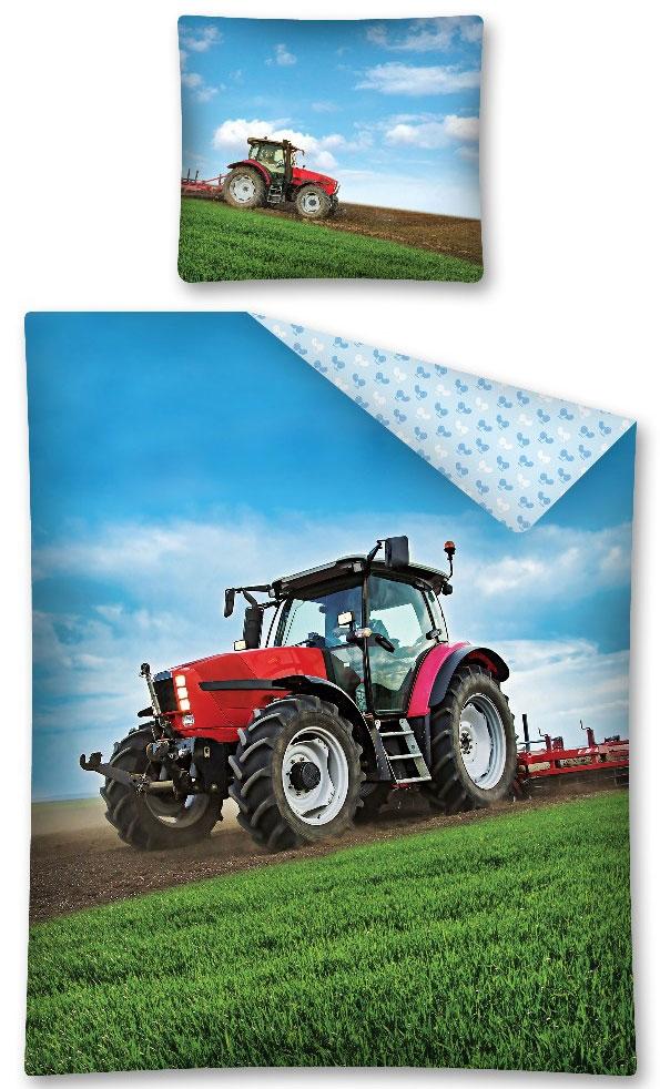 Jongens Dekbedovertrek Tractor 140x200cm