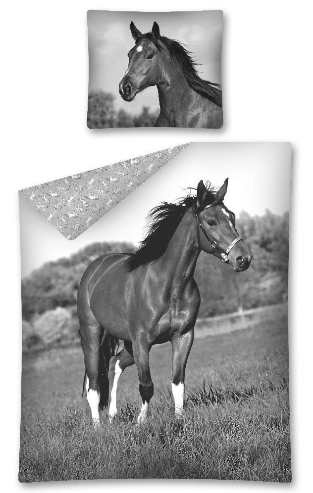 Dekbedovertrek Paard Grijs