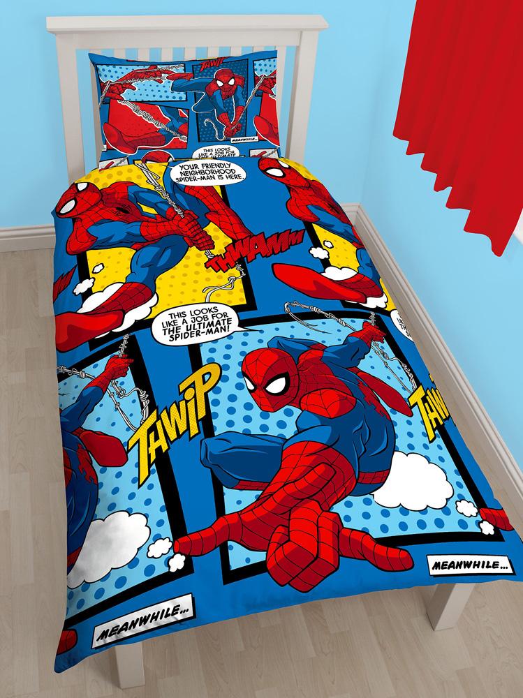 Kinderdekbedovertrek Spiderman Stripheld