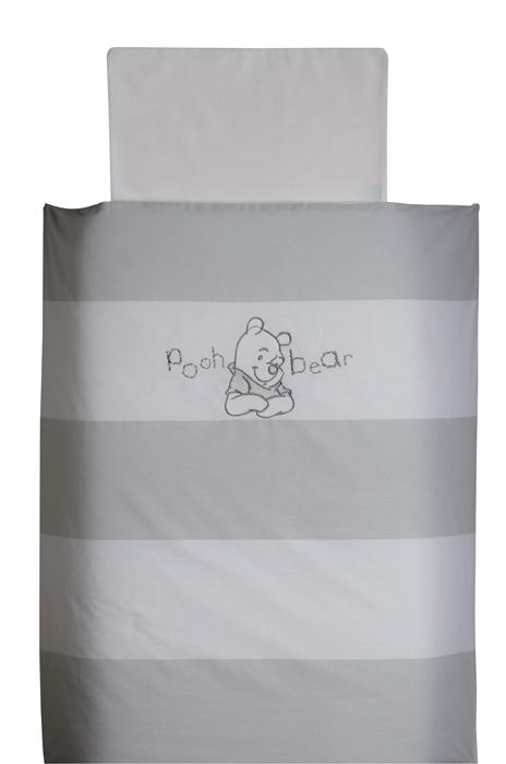 Pooh Bear Grijs Dekbedovetrek 80x80cm