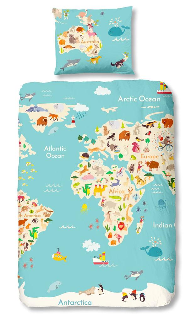 Good Morning Dekbedovertrek Worldmap